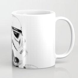 Stormtrooper Hand Drawn Dotwork - StarWars Pointillism Artwork Coffee Mug