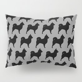 Long Haired Chihuahua Silhouette Pillow Sham