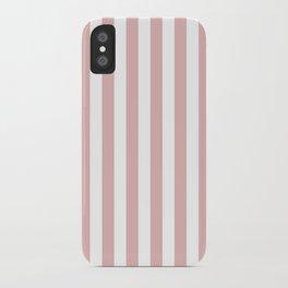 Stripes - rose pink iPhone Case