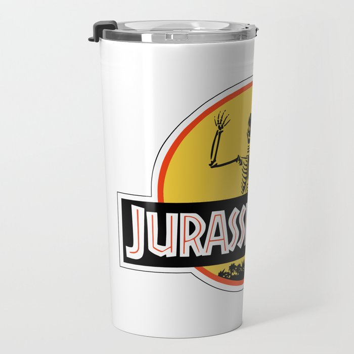 Jurassic Dad Dinosaur Skeleton Funny Birthday Gift 2 Travel Mug