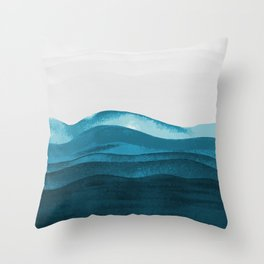 Ocean waves paint Throw Pillow