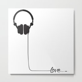 For the love of music 2.0 Metal Print
