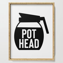Coffee Pot Head Serving Tray
