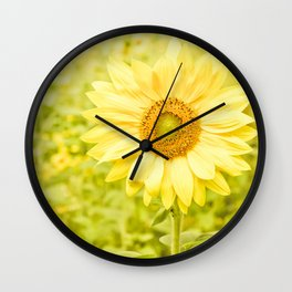 Smiling sunflower Wall Clock