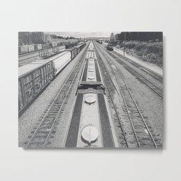 Interbay Rails Metal Print