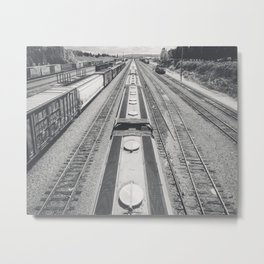 Interbay Rails Metal Print