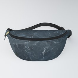 Dark blue marble texture Fanny Pack
