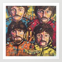 yellow submarine Art Prints featuring Yellow Submarine by somanypossibilities