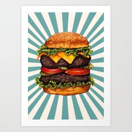 Cheeseburger - Double Art Print