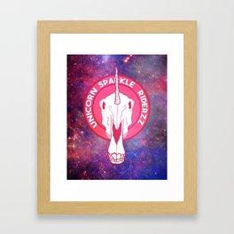 Unicorn Ridazz Framed Art Print