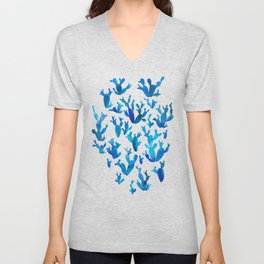 Desert night with cacti Unisex V-Neck