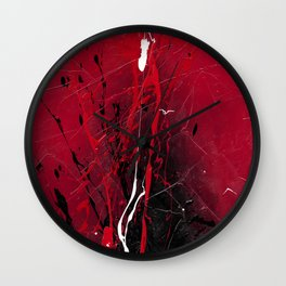 Rising - abstract painting by Rasko Wall Clock