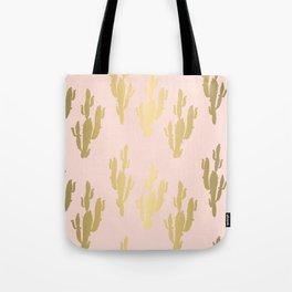 Gold rose cactus pattern Tote Bag
