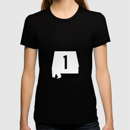 Shield of Alabama State Route 1 T-shirt