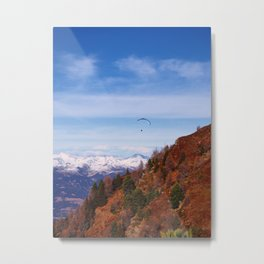 Paragliding the Italian Alps Metal Print