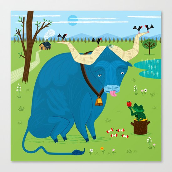 The Ox and The Frog Canvas Print