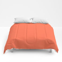 From Crayon Box – Outrageous Orange - Bright Orange Solid Color Comforters