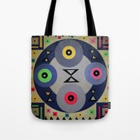 ferris wheel Tote Bags featuring Ferris wheel by simay