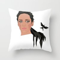 jennifer lawrence Throw Pillows featuring jennifer lawrence by Karen Rós