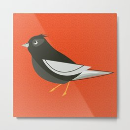 Retro Birdy Metal Print