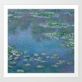 Water Lilies, Claude Monet,1840-1926 Art Print