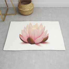 lotus flower silk Rug