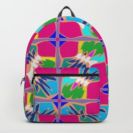 Tropical Shapes Pink Backpack