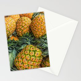 Pineapples at Market Stationery Cards