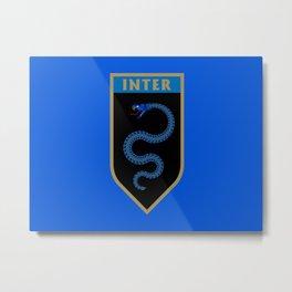 Milan Blue Badge Metal Print