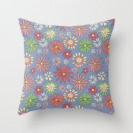 Midday Wildflowers Throw Pillow