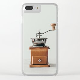 Wooden Coffee grinder Clear iPhone Case