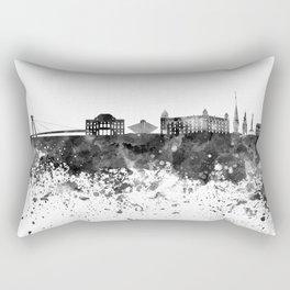 Bratislava skyline in black watercolor Rectangular Pillow