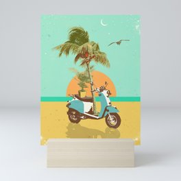 SCOOTER TROPICS Mini Art Print