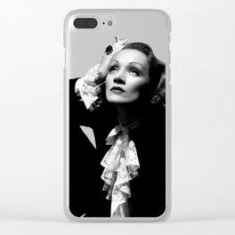 Marlene Dietric Clear iPhone Case