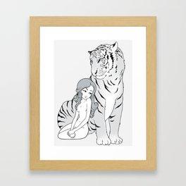 My tiger, my heart Framed Art Print