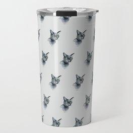 Black Cat Pattern Travel Mug