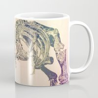 t rex Mugs featuring T-REX  by T.E.Perry