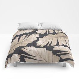 Sepia Banana Leaves Dream #1 #foliage #decor #art #society6 Comforters