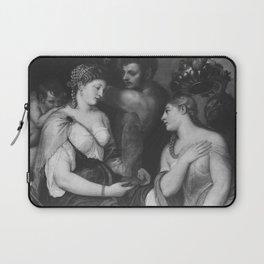 Titian - Einweihung in die Geheimnisse Bacchus (Werkstatt) Laptop Sleeve