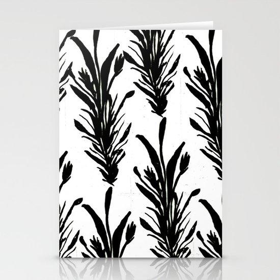 Black Leaves Stationery Cards