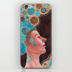Queen in Gold and Teal iPhone & iPod Skin
