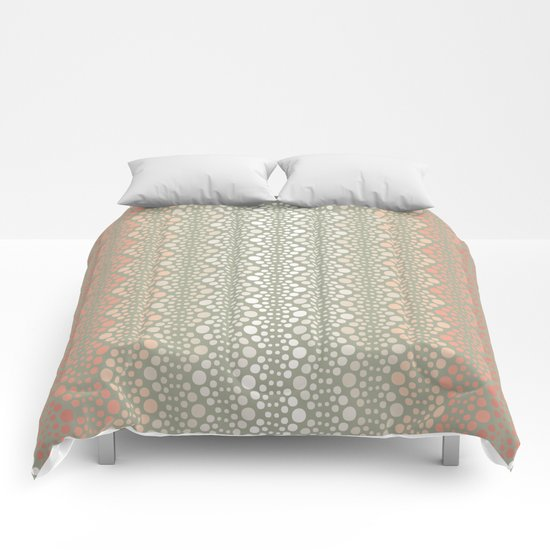 Retro Dotted Pattern 06 Comforters