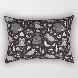 Trashy Raccoons Rectangular Pillow