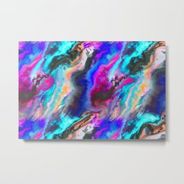 Colorful Abstract Paint Chaos Metal Print