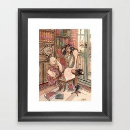 Le Salon Rouge Framed Art Print