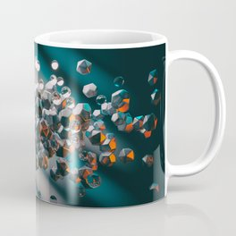 Abstract background with 3D primitives Coffee Mug