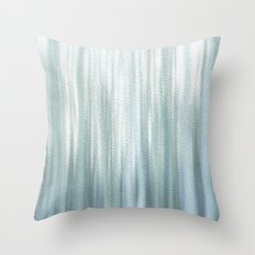 Frost in woods Throw Pillow