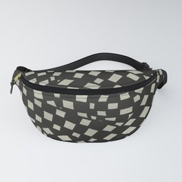 Emo Checkerboard Pattern (WHITE) Fanny Pack