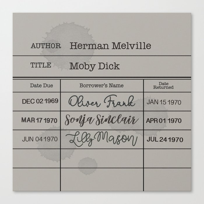MOBY DiCK (1851) Canvas Print
