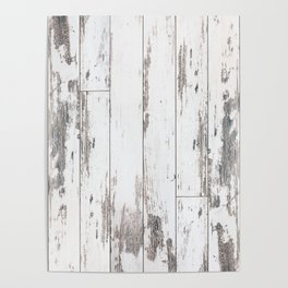 White Wood Poster
